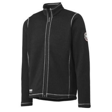 H/H Workwear Hay River Fleecejacka svart/vit