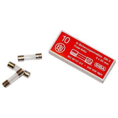 SIBA 7001005.2 Finsäkring 5 x 25 mm, medel, 10-pack