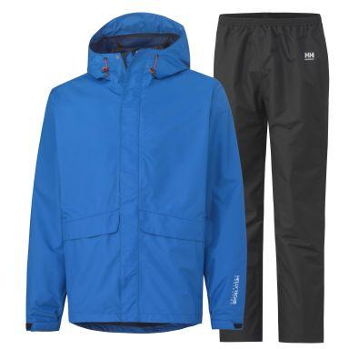 Helly Hansen Workwear Waterloo Regnställ Strl XS, blå/svart