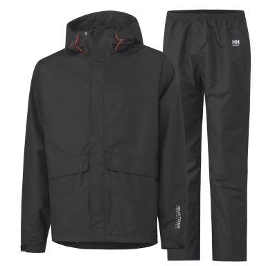 Helly Hansen Workwear Waterloo Regnställ svart, vind- och vattentät