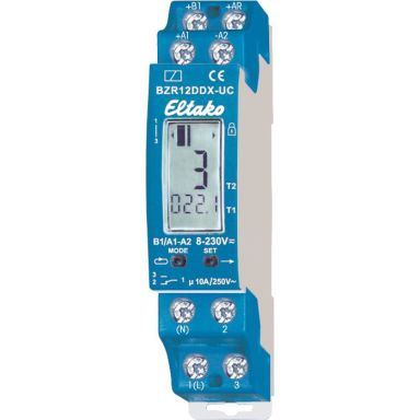 Eltako BZR12DDX-UC Pulsteller. 11 NO potensialfrie kontakter 10A /250 V AC.