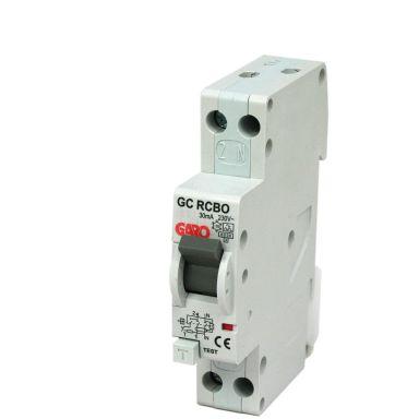 Garo RCBO GC B13A 1+N Personskyddsbrytare 2-polig, 1 modul
