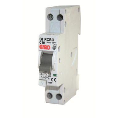 Garo RCBO GC C16A 1+N Personskyddsautomat 1 modul, 6kA
