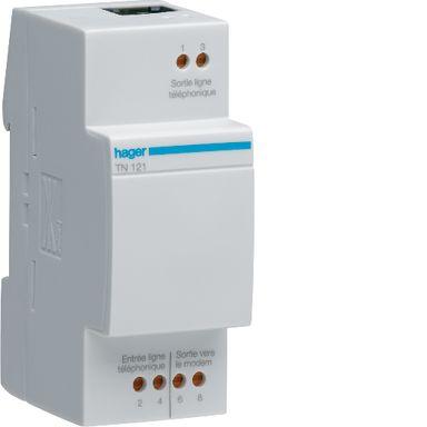 Hager TN121 ADSL-filter RJ45