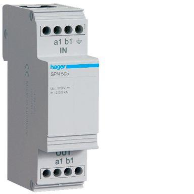 Hager SPN505 Televern avledningsevne 12,5 kA
