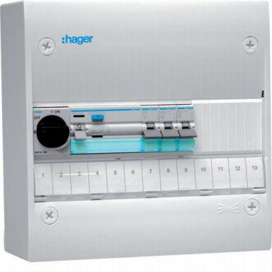 Hager GD113SF Kytkentäkaappi Tyyppi: Gamma, IP30