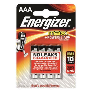 Energizer 7638900341249 Batteri 1.5 V AAA, 4-pack