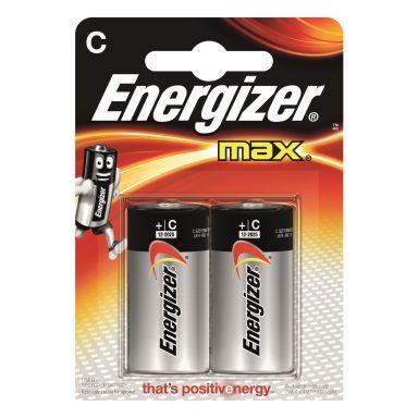 Energizer 7638900410402 Batteri Max C, 2-pack