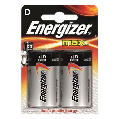 Energizer 7638900410457 Batteri Max D, 2-pack