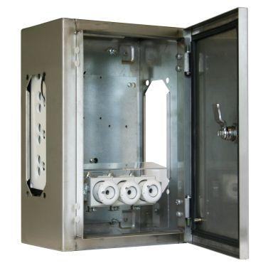 Eldon TRR24021 Transformatorboks rustfritt stål, IP65, 4 x FL21