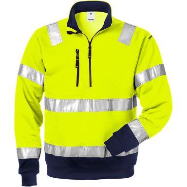 Fristads 728 SHV Sweatshirt varselgul/marinblå