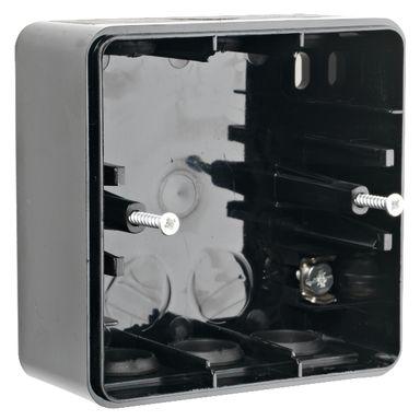 Elko EKO01313 Förhöjningsram svart, IP44, 1-fack