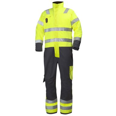 H/H Workwear Aberdeen Overall varsel, gul/granitgrå