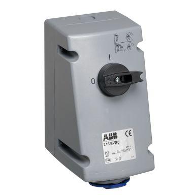 ABB 2CMA167646R1000 Vägguttag IP44, 2P+J, 16 A