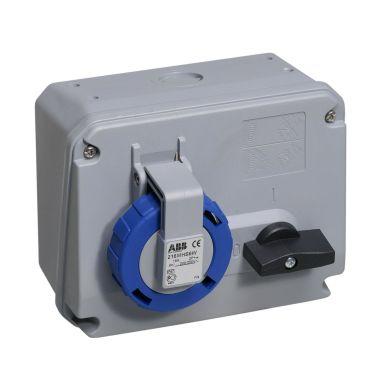 ABB 2CMA167801R1000 Vägguttag IP67, 2P+J, 50-60 Hz