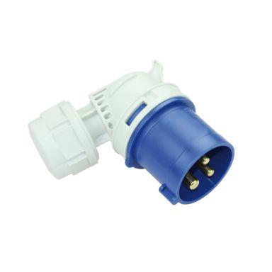 Garo PA 216-6 S Stickpropp IP44, vinklad, 3-polig, 16A, 6h