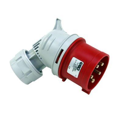 Garo PA 432-6 S Stickpropp IP44, vinklad, 5-polig, 32A, 6h