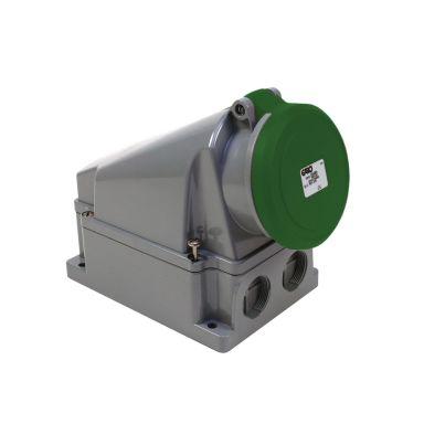 Garo UI 463-2 S + RU Vägguttag IP44, 5-polig, 63A