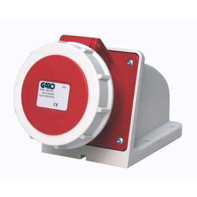 Garo UIV 332-6 S + RU Vägguttag IP67, 4-polig, 32A