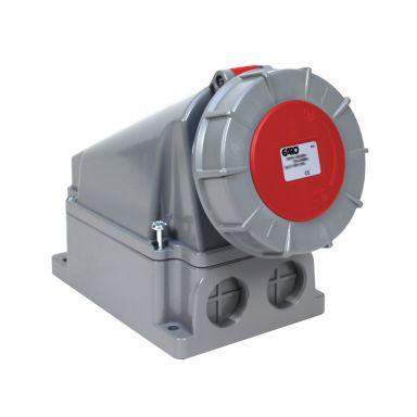 Garo UIV 463-6 S + RU Vägguttag IP67, 5-polig, 63A
