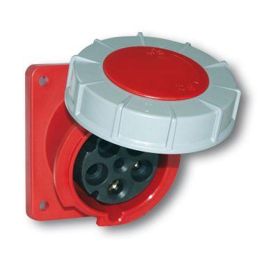 Garo UISV 432-6 S Paneluttag IP67, 5-polig, 32A, sned