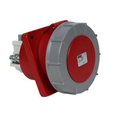 Garo UISV 3125-6 S Paneluttag IP67, 4-polig, 125A, sned
