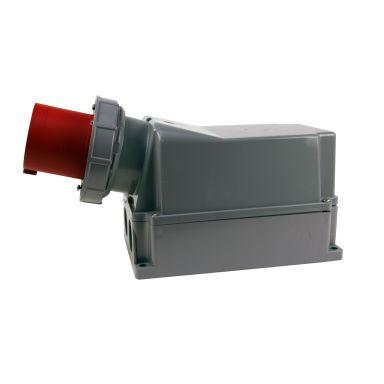 Garo IIV 3125-6 S + RI Väggintag IP67, 4-polig, 125A
