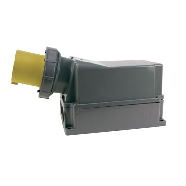 Garo IIV 4125-4 S + RI Väggintag IP67, 5-polig, 125A
