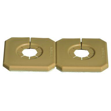 Purus Duo-Täck Täckbricka för dubbla rör, delbar, brun