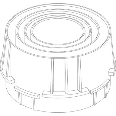 Schneider Electric ISM50371 Röradapter för 1x25/32/40/50 mm