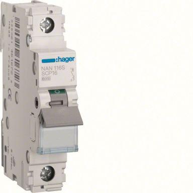 Hager NAN116S Dvärgbrytare 1-polig, 10kA