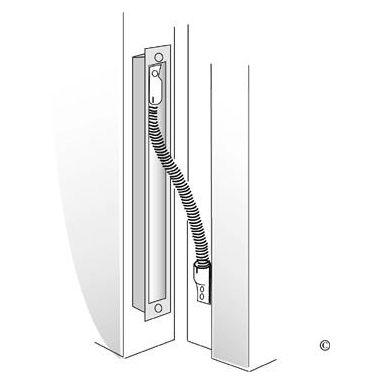 ASSA Abloy EA281 Karmöverföring 512 mm, blankkrom