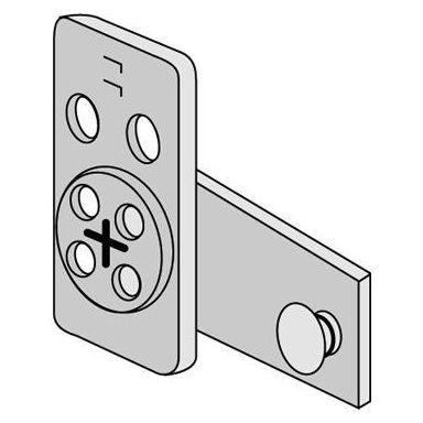 ASSA 2593 Kaapin lukkokotelo oikea, kiiltävä sinkitty
