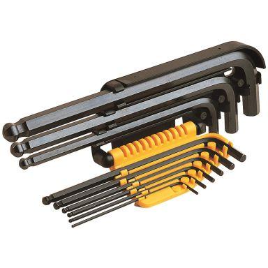 Ironside 114010 Vinkelnøkkelsett 9 deler, unbrako, 1,5–10 mm