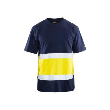 Blåkläder 339710133399XS T-shirt varselgul/svart, UV-skyddad, varsel