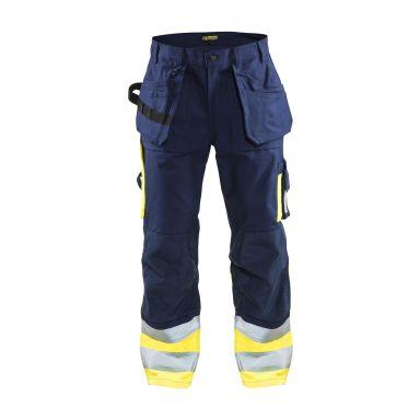 Blåkläder 152918608933D124 Varselbyxa marinblå/varselgul, hantverk