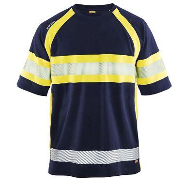 Blåkläder 333710518933XXXL T-shirt svart/varselgul, UV-skyddad, varsel