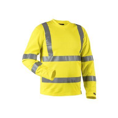 Blåkläder 3381107033004XL T-shirt med lång ärm, varselgul, UV-skyddad, varsel