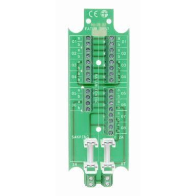 Alarmtech 3057.03 Kopplingsplint 5 par, avsäkrad strömmatning