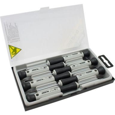 Ironside 120522 Skruvmejselsats 6 delar, ESD, spår & PH