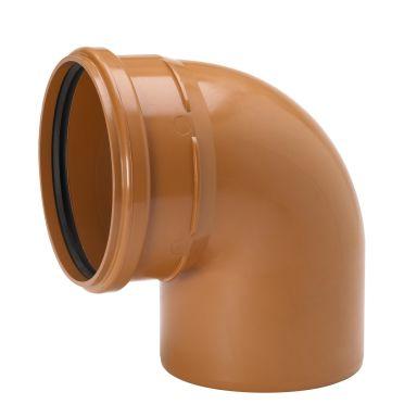 Uponor 3002071141 Grunnavløpsrør bend 90°, PVC, 110 mm