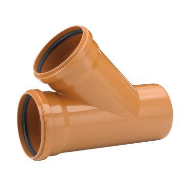 Uponor 3002071161 Grenrør 45°, PVC, 110 mm