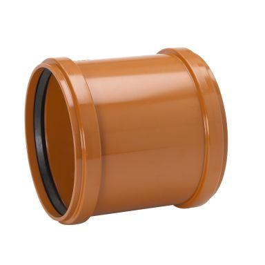 Uponor 3002071201 Skyvemuffe uten kant, PVC, 110 mm