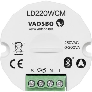 Vadsbo V-4022010WCM Dimmer 0-200 VA, 230 V, IP20