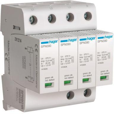 Hager SPN901R Overspenningsvern grovbeskyttelse, maks 1,5 kV