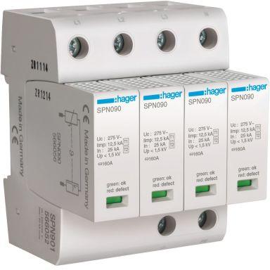 Hager SPN901 Overspenningsvern grovbeskyttelse, maks 1,5 kV