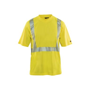 Blåkläder 338710308833L T-shirt marinblå/varselgul, varsel