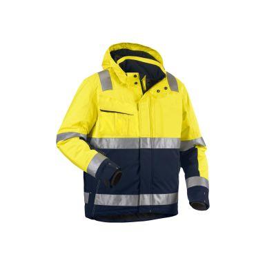 Blåkläder 487019873389XS Varseljacka varselgul/marinblå, vinter