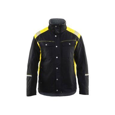 Blåkläder 491513709933M Vinterjacka svart/varselgul, hantverksjacka