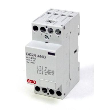 Garo GK24 4NO 24V ACDC Kontaktor 4-polig, 16 A, slutande